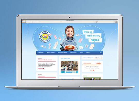 Strona internetowa Danone