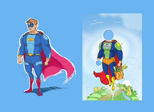 Superbohater Danone