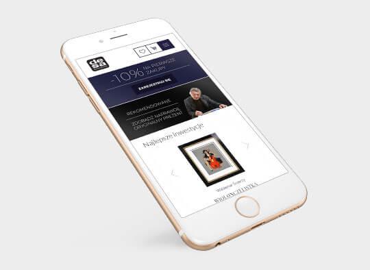 Mobilna strona internetowa Desa Modern