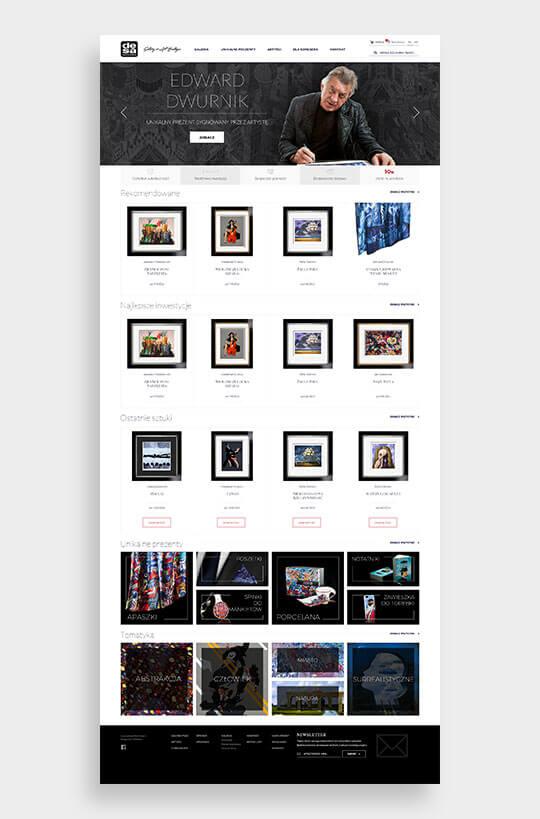 Strona internetowa Desa Modern - całość