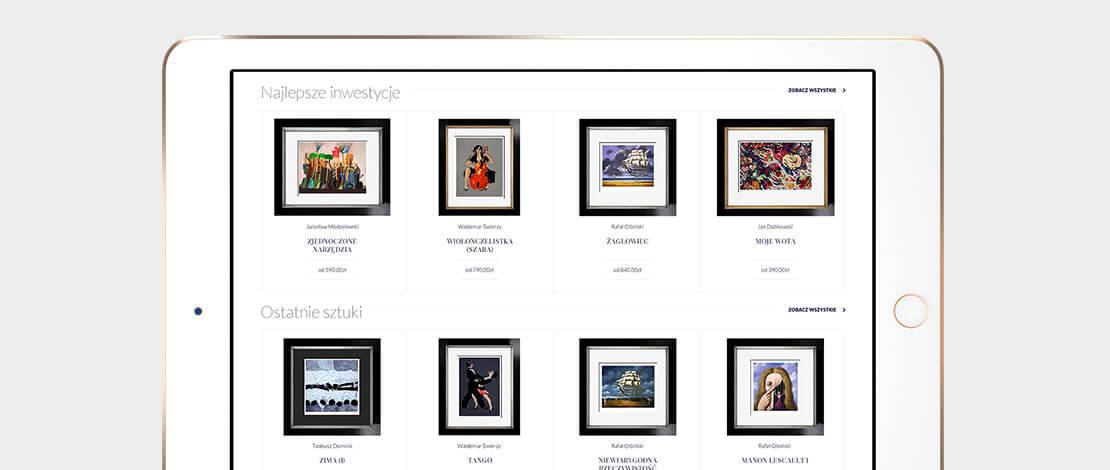 Strona internetowa Desa Modern - tablet
