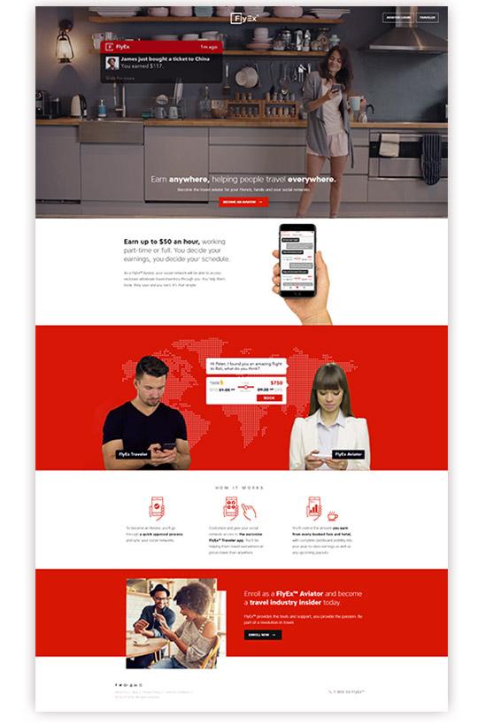 Projekt strony internetowej Flyex