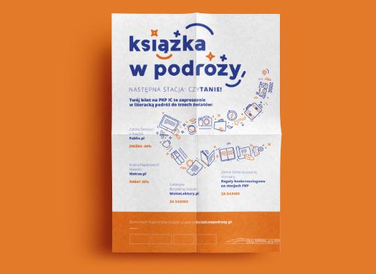 Plakat Książka w podróży