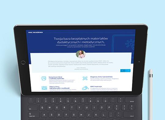 Strona internetowa MAC - notebook