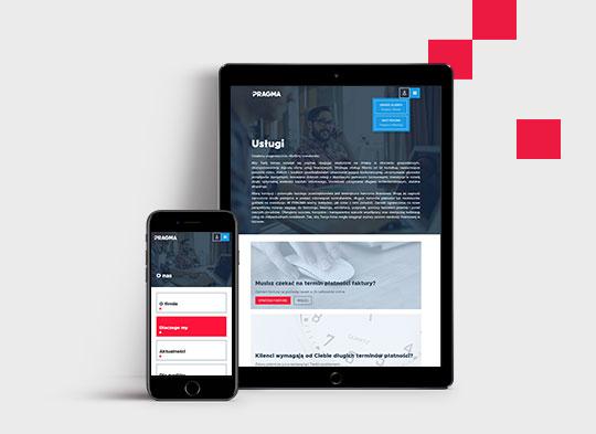Mobilna strona internetowa Pragma
