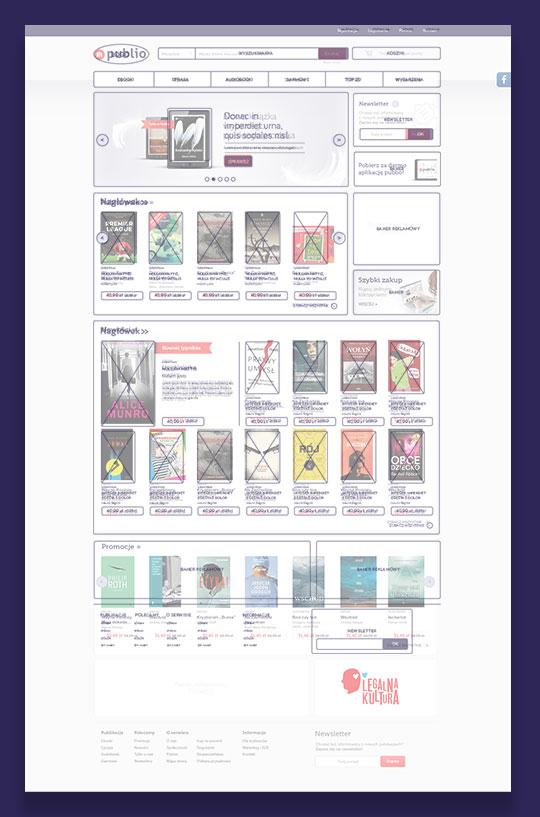 Projekt strony internetowej Publio