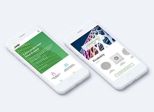 Smartfony z stroną internetową Smay