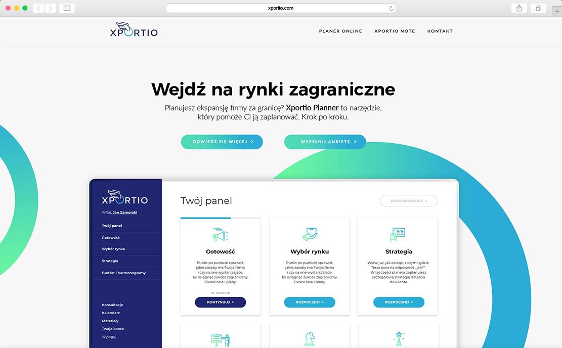 Strona internetowa Xportio