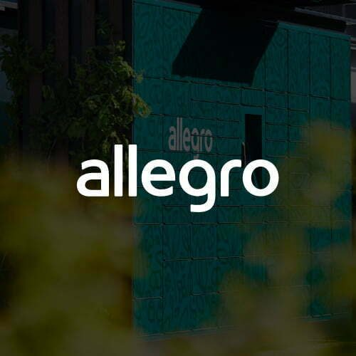 Baner Allegro – projekt automatu paczkowego